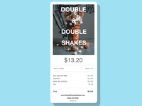 Email Receipt for a Shake shop mobile