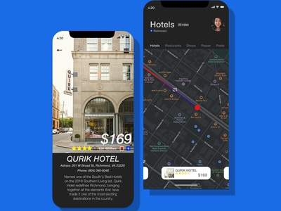 Location Tracker v2 dailyui mobile maps dark mode map clean type brand app identity minimal typography branding ux color ui design