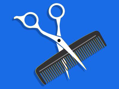 Barbershop Logo concept logodesign illustrator icon flat vector logo illustration identity minimal clean branding color design