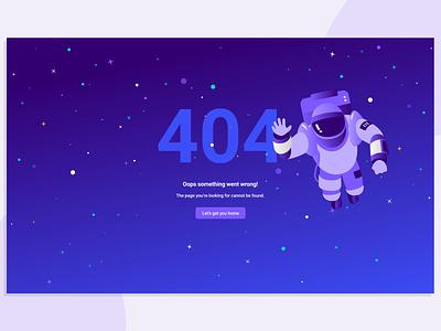 404 Page - Errors in Space! illustration design app enterprise ui ux b2b visual design