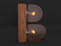3D Alphabet - B