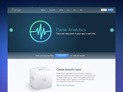 New Parse homepage parse developer homepage website facebook