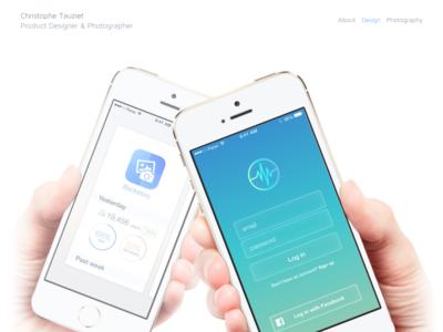 Portfolio refresh  web design portfolio mockups parse facebook mobile app icons