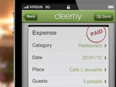 New expense UI expense iphone ui receipt list checkbox