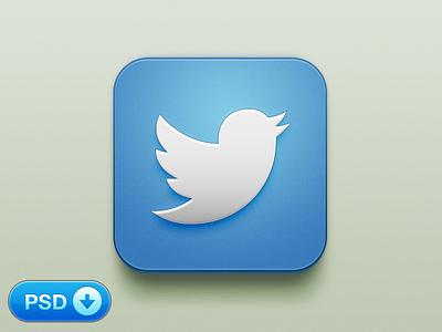 Twitter iOS Icon [+PSD] iphone ios twitter psd icon app