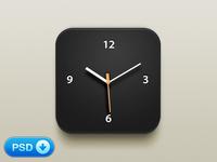 Clock iOS Icon [+PSD]