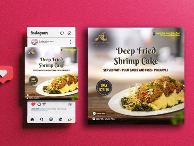 Social Media poster design food template food banner instagram post poster flyer design poster design template design template ads banner graphic design