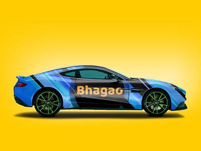 Bhagao Branding typography vector minimal illustrator logo graphic design branding design