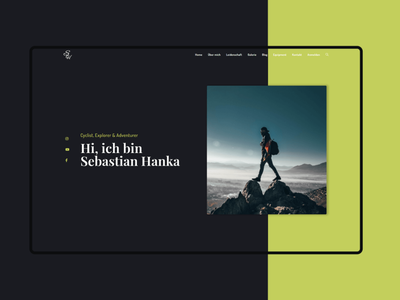 Sebastian Hanka - Modern Creative Responsive Website Design ux typography icon design logo branding animation graphic design ui