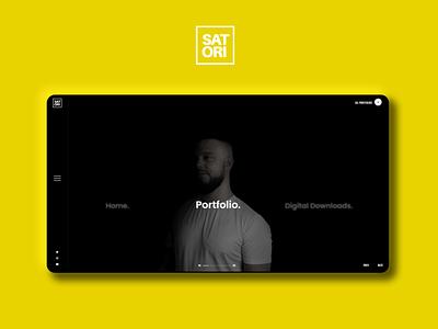 Satori Graphics - YouTuber Portfolio Website Design animation icon branding design logo illustration typography graphic design we ui
