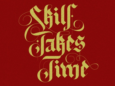 Skill Takes Time