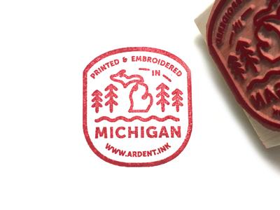 Ardent Ink Stamp michigan stamp