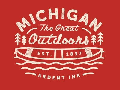 Michigan Outdoors typography outdoors michigan
