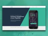Aria Landing Page UI