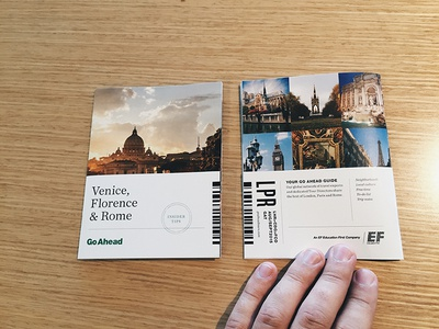 Venice Florence & Rome City Guide belly band small format print
