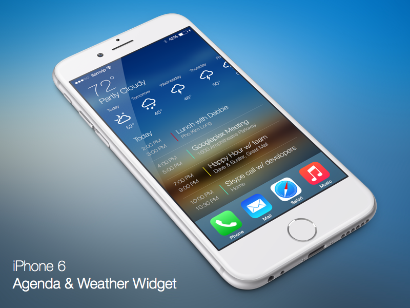 Agenda and Weather Widget ios apple iphone