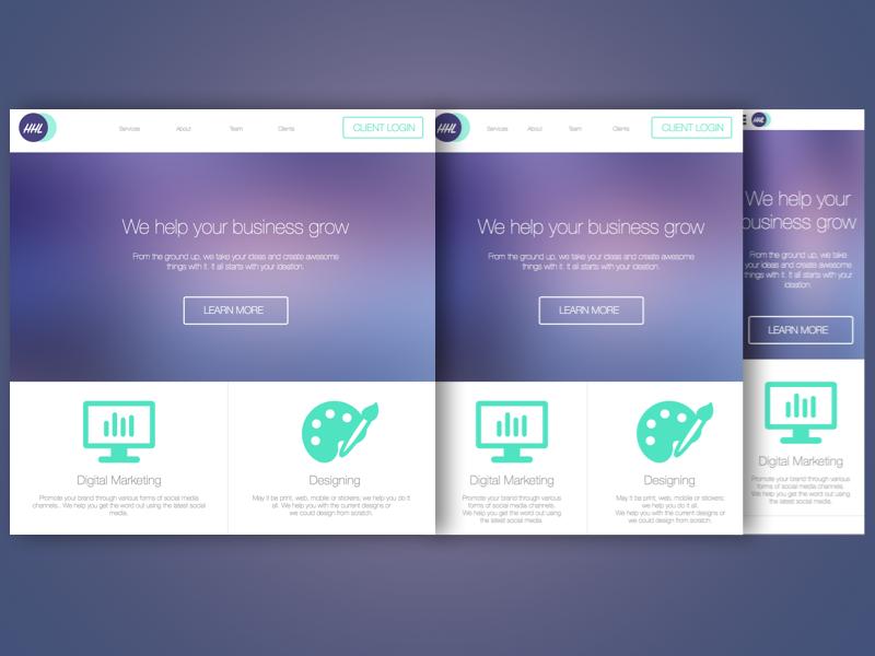 Responsive Design (Desktop, Tablet, Mobile) responsive web desktop mobile tablet
