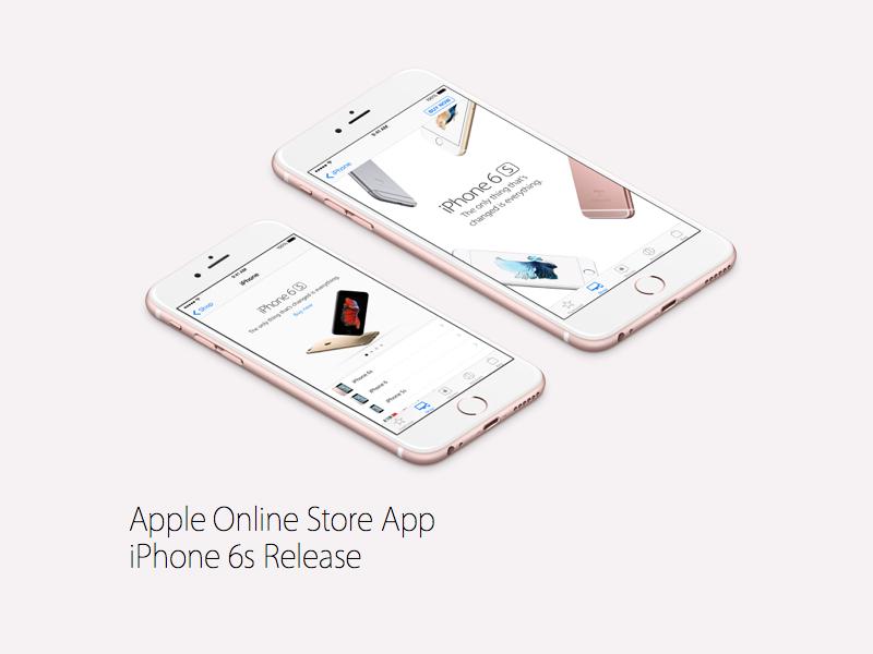 Apple Online Store app update ecommerce dos apple
