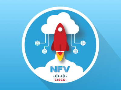 Cisco NFV Rocketship sticker