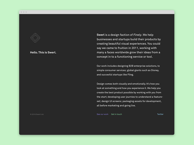 Swerl – Landing page live website design web splash page landing swerl
