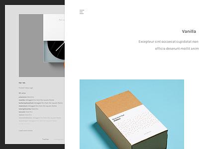 Vanilla – Tumblr Theme wordpress website web ui tumblr themies theme simple vanilla minimal design