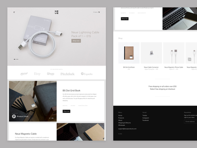 Neue Products [LIVE!] ux ui web design theme shopify shop store products