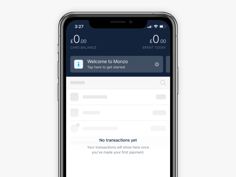 Carousel redesign banking fintech product design product monzo financial app bank iphone ios
