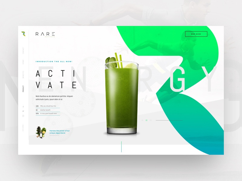 Rare Supplements Website Concept web wordpress redesign sketch header ui website