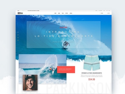 Billabong Landing Page