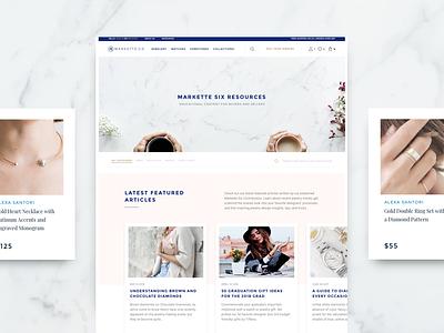 Markette Six Jewlery Marketplace light web design redesign ecommerce web ux sketch website ui