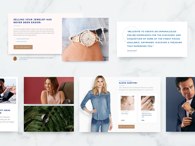 Markette Six Jewelry Marketplace Components light web design redesign ecommerce web ux sketch website ui