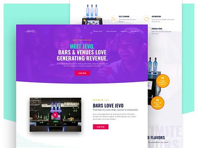 Jevo Website wordpress sketch web design redesign web website ui