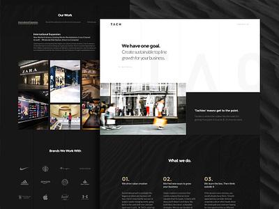 Tach Group Website landing page webdesign web design redesign web sketch header website ui