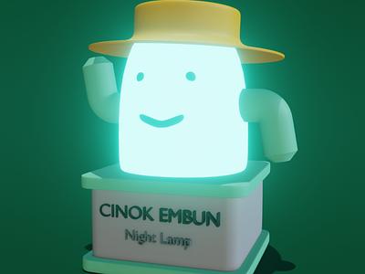 3D Modeling Night Lamp night lamp leftbrainillustrator illustration 3d illustration 3d character 3d modeling 3d