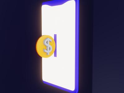 3D Illustration Modeling Digital Currency left brain illustrator leftbrainillustrator digital currency digital 3d character 3d illustration 3d modeling 3d