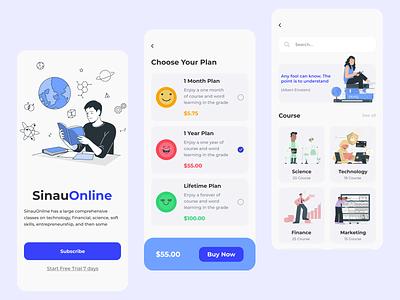 Explorations UI Design - Course Online uidesign