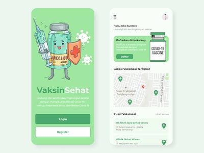 UI Vaccine Mobile App: VaksinSehat covid-19 vaccine websitedesign
