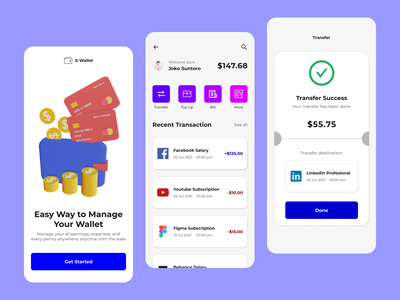 E-Wallet App money