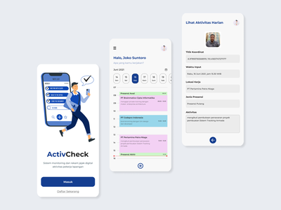 UI Design: ActivCheck Apps userexperience figma mobiledesign userinterface leftbrainillustrator activty application mobile ux design ui design uiux ux ui