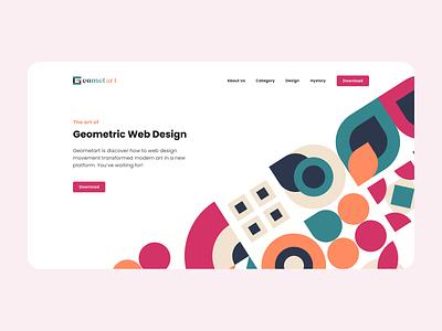 UI Design: Bauhaus Geometric figma application design geometric bauhaus landing page website web design ux design ui design ux ui