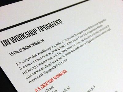 Typographic workshop