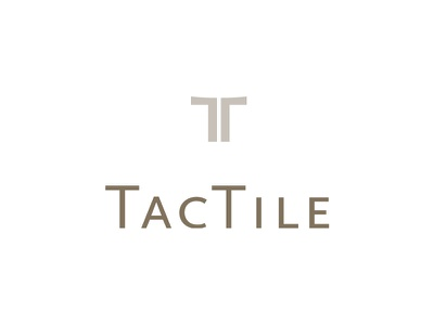 Tactile logo typography mark touch tile