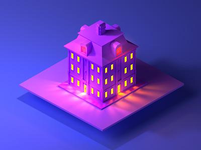 Isometric Building building night isometric illustration designer city buildings affinity