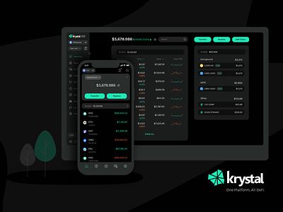 Krystal - One Platform, All Defi ui desktop design coin chart crypto bitcoin blockchain mobile application