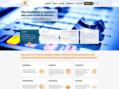 Atlays | Accompagnement à la direction d'entreprise responsive design newsletter wordpress website webdesign