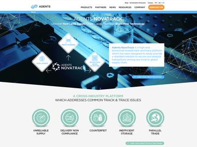 Adents - NovaTrack ui design website