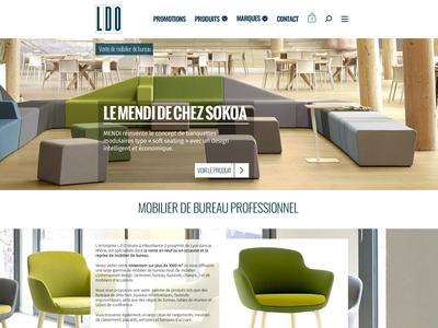 LDO - Office Furniture ui design website