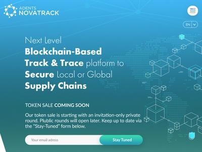 Novatrack Ico responsive design infographic website webdesign ui design