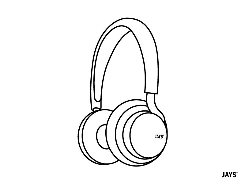 UJays Icon line music india. headphone bangalore design illustration illustrator icons jays