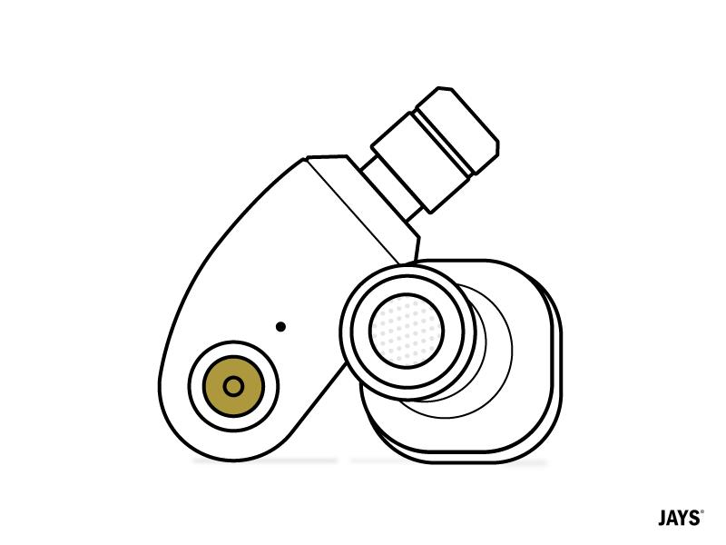 qJays Icon minimal line icon line design illustration illustrator icon design icon audiophile earphone jays qjays